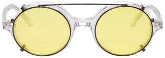 Han Kjobenhavn Transparent and Black Doc Clip-On Sunglasses