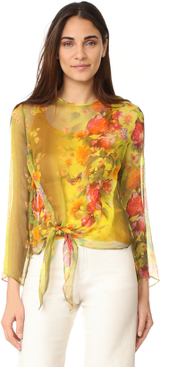 Fuzzi Long Sleeve Blouse $475 thestylecure.com
