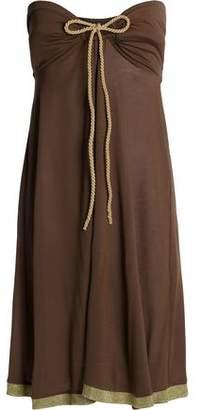 Heidi Klein Strapless Bow-Embellished Modal-Jersey Dress