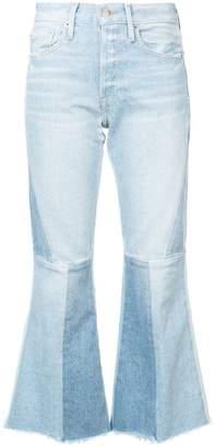 Frame panelled kick flare jeans