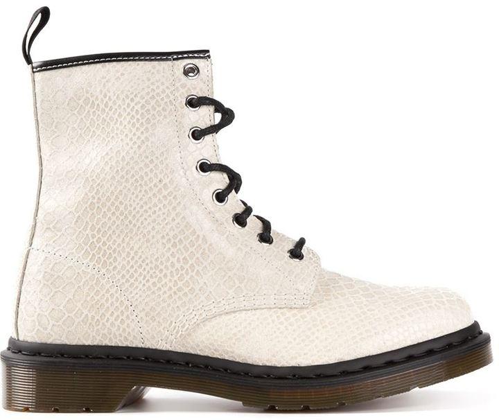 Dr. Martens '1460' snakeskin effect boots