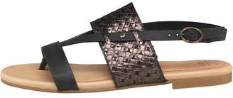 UGG Womens Verona Metallic Basket Sandals Black