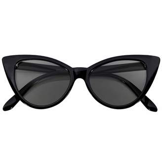 cec06295a8 OWL Stylish Cat Eye Vintage smoke Lens Sunglasses Black - Dots Frame
