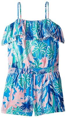 Lilly Pulitzer Leonie Romper Girl's Jumpsuit & Rompers One Piece
