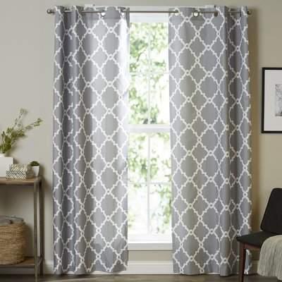 Wayfair Merrie Trellis Grommet Curtain Panel