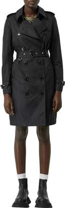 Burberry Kensington Hooded Nylon Trench Coat