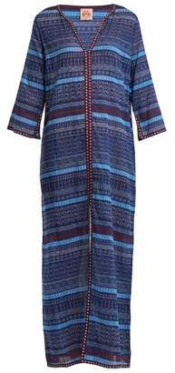 Le Sirenuse, Positano - Brenda Geometric Sea Print Cotton Dress - Womens - Navy Print