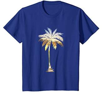 Palm Tree T Shirt Cool Graphic Cute Sunset Palm Tree Beach