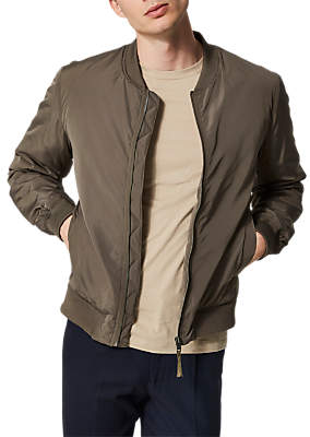 Selected Felix Recycled Polyester Bomber Jacket, Brown