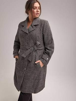 Plaid Coat with Belt - In Every Story