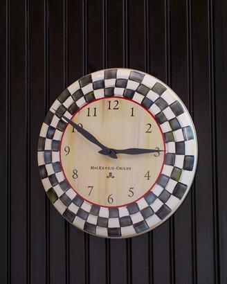 Mackenzie Childs Courtly Check Clock