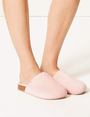 Marks and Spencer Corduroy Mule Slippers
