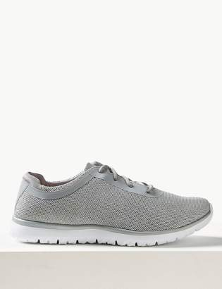 Marks and Spencer Shimmer Lace-up Trainers