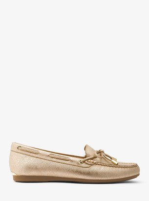 MICHAEL Michael Kors Sutton Metallic Leather Moccasin