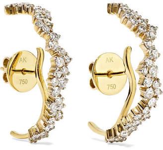 Ana Khouri Sadie 18-karat Gold Diamond Earrings