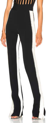David Koma Side Snap Crystal Trouser Pants