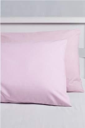 Next 2 Pack Easy Care Plain Dye Pillowcases