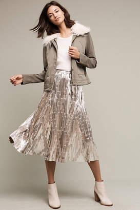 Maeve Eclat Midi Skirt $98 thestylecure.com