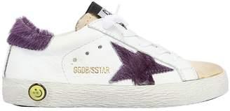 Golden Goose Super Star Leather & Ponyskin Sneakers