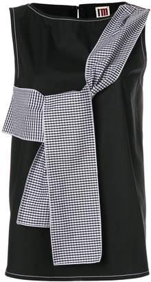 I'M Isola Marras tie-around sleeveless blouse