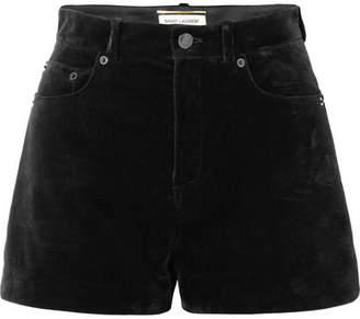 Saint Laurent Velvet Shorts - Black