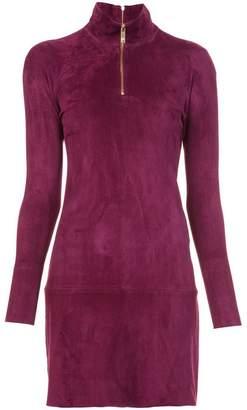 Jitrois longsleeved zipped neck dress
