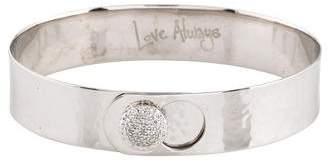 Phillips House 14K Diamond Hammered Love Always Bangle