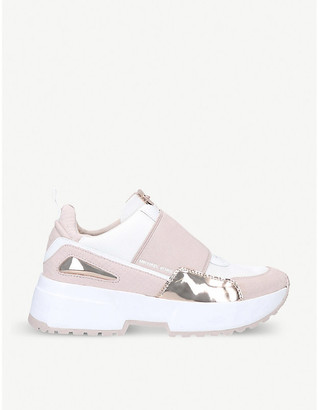 MICHAEL Michael Kors Cosmo leather and suede trainers