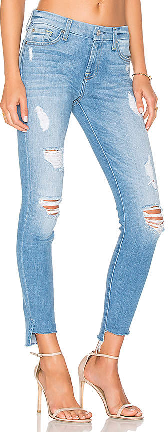 7 For All Mankind Step Hem Ankle Skinny.