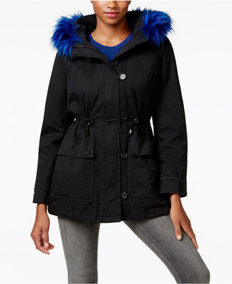 Madden Girl Faux-Fur-Trim Hooded Parka $79.50 thestylecure.com