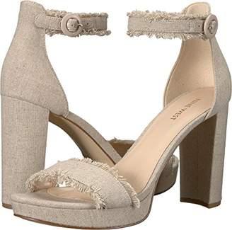 Nine West Women's DARANITA Linen Heeled Sandal Natural