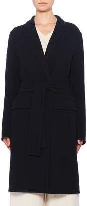 The Row Tumo Wool-Blend Wrapped Pea Coat