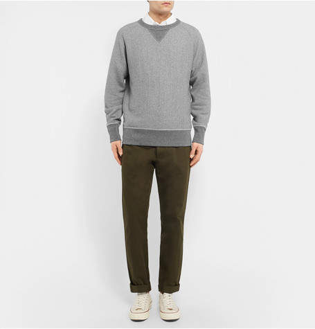 Rag & Bone Mélange Loopback Cotton-Jersey Sweatshirt