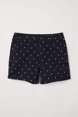 H&M Short Chino Shorts - Black - Women