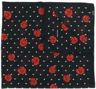 Saint Laurent rose polka dot print scarf