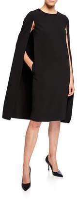 Max Mara Sansone Cape-Back Dress