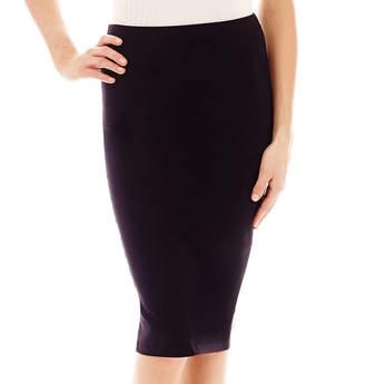 JCPenney Decree Midi Bodycon Solid Skirt