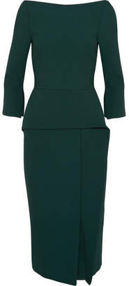 Roland Mouret Ardingly Crepe Midi Dress - Green