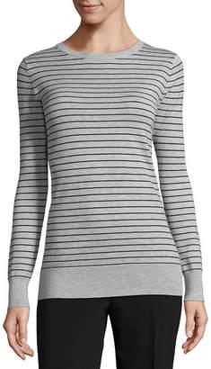 WORTHINGTON Worthington Long Sleeve Crew Neck Pullover Sweater