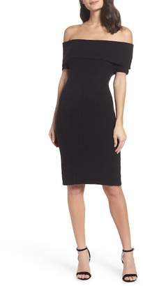 BB Dakota Porter Off the Shoulder Sheath Dress