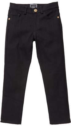 Versace Boy's Denim Jeans w/ Barocco Print Back Pockets, Size 4-6