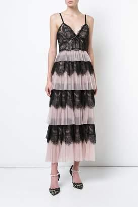 Marchesa Sleeveless Lace Dress