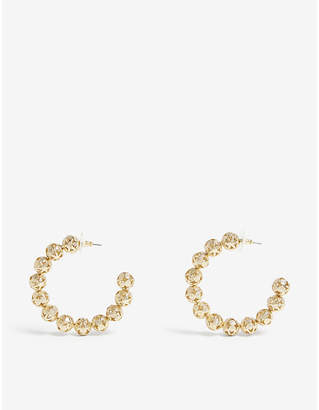 BaubleBar Amora brass hoop earrings