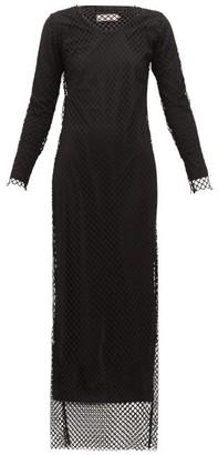 Marques Almeida Marques'almeida - Long Sleeved Mesh Maxi Dress - Womens - Black