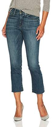 NYDJ Women's Petite Size Marilyn Straight Ankle Jeans with Raw Hem