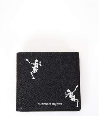 Alexander McQueen Black Male Leather With Skull Print