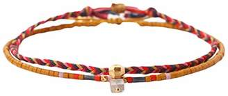 Chan Luu Seed Bead and Fabric Braided Mix Pull Tie Bracelets (Set of 2 Single) ()
