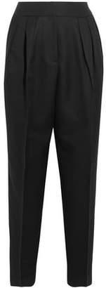 Bottega Veneta Cropped Wool And Silk-blend Tapered Pants