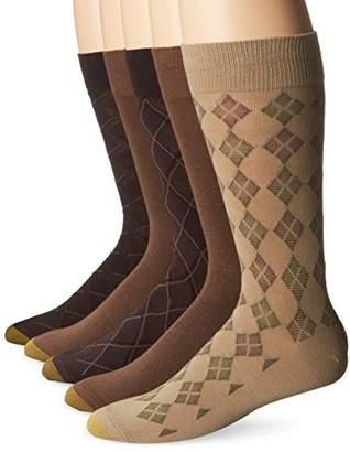 Gold Toe Men's 5 Pack Diagonal Plaid Fashion