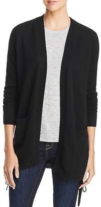 AQUA Cashmere Lace-Up Cashmere Cardigan - 100% Exclusive
